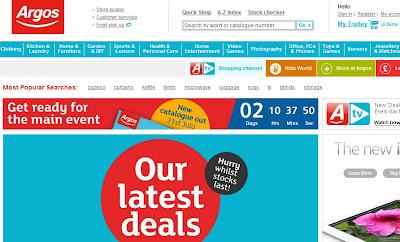 Argos homepage