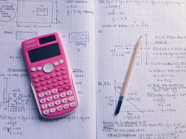 maths exam revision calculator and pencil