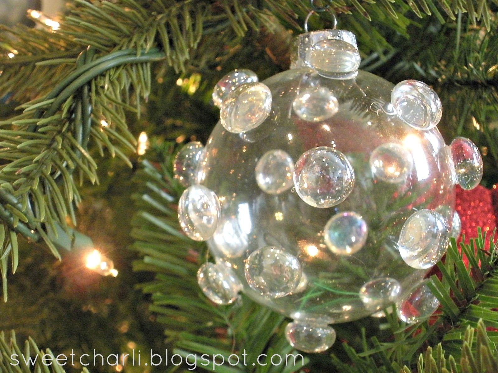 Diy glass ball ornament rocks sweet charli