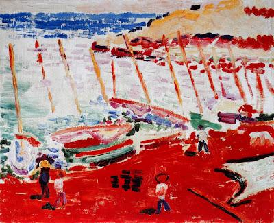 Henri Matisse -La plage rouge  Colliuore, 1905