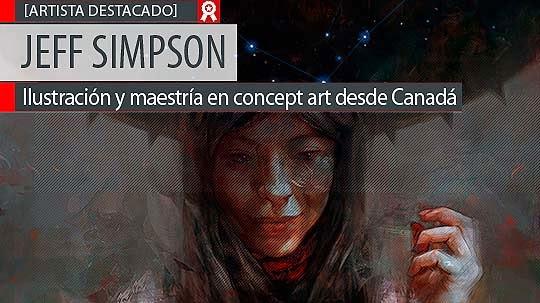 Ilustración, pintura digital y arte de JEFF SIMPSON.