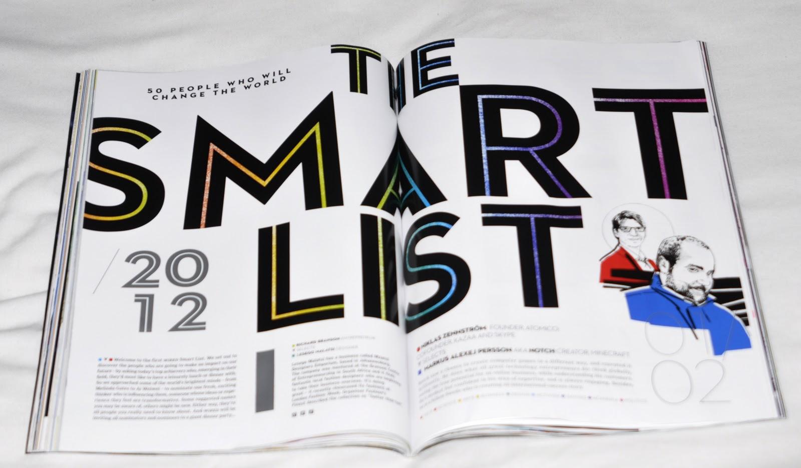 graphic design: Magazine spread research