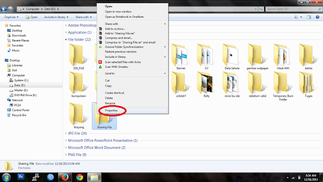 Cara Sharing File atau Folder