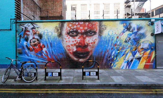 """Wonderland"" new Street Art mural by Dale Grimshaw in East London, UK. 4"