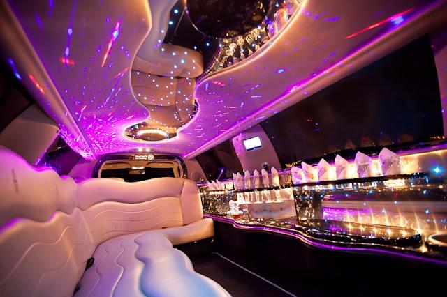 Excalibur Limousine black/ silver. Hochzeitsauto, Hochzeitslimousine mieten.