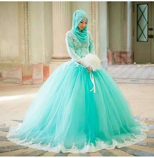 Rekaan baju pengantin muslimah