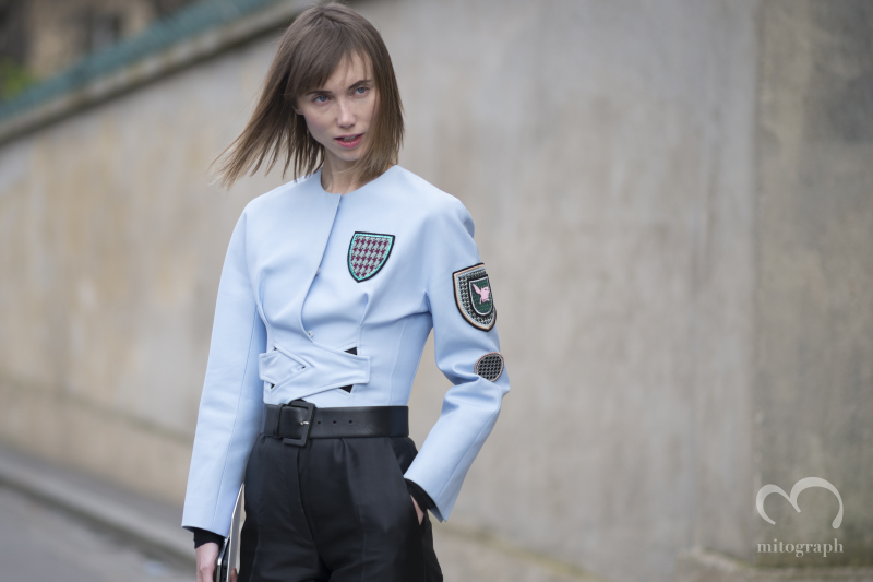 Stylist Anya Ziourova attends Christian Dior 2014 Fall Winter show during Paris Fashion Week PFW