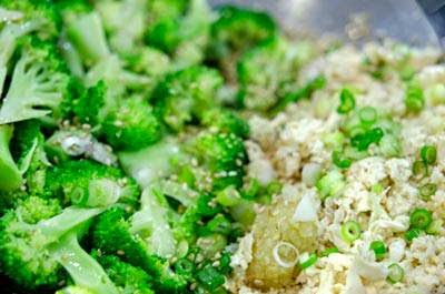 Vietnamese Recipes Vegetarian - Salad Đậu Hũ và Súp Lơ