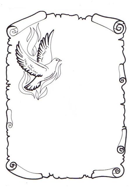 Caratulas de pergamino para colorear - Imagui