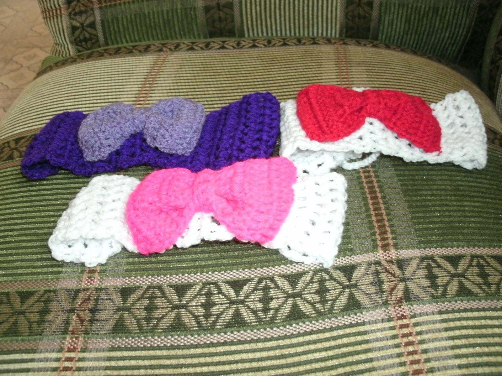 Accesorios para el cabello tejidos a crochet. Estos modelos son de mi propia inspiracion