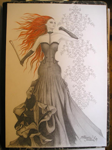 violin-lady-drawing-wallpaper