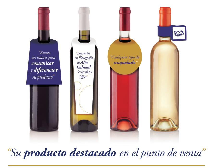 etiquetas collarin, collarines para botellas de vino