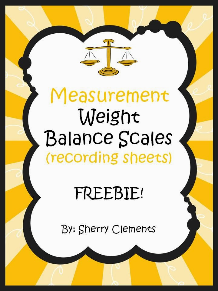 http://www.teacherspayteachers.com/Product/Measurement-Weight-Balance-Scales-recording-sheets-FREEBIE-1055294