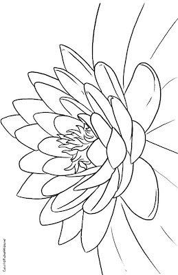 Lotus Flowers Coloring Page