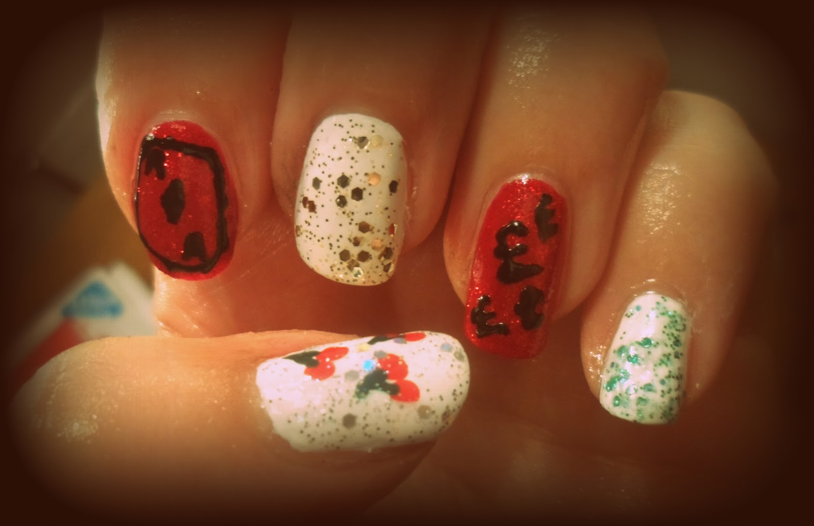 Christmas Casino Themed Nail Art With Ladbrokes Flutter And Sparkle