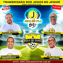 TRANSMISSÃO ESPORTIVA COM MAIS EMOÇÃO É PELA RÁDIO JEQUIÉ FM 89,7 DE JEQUIÉ