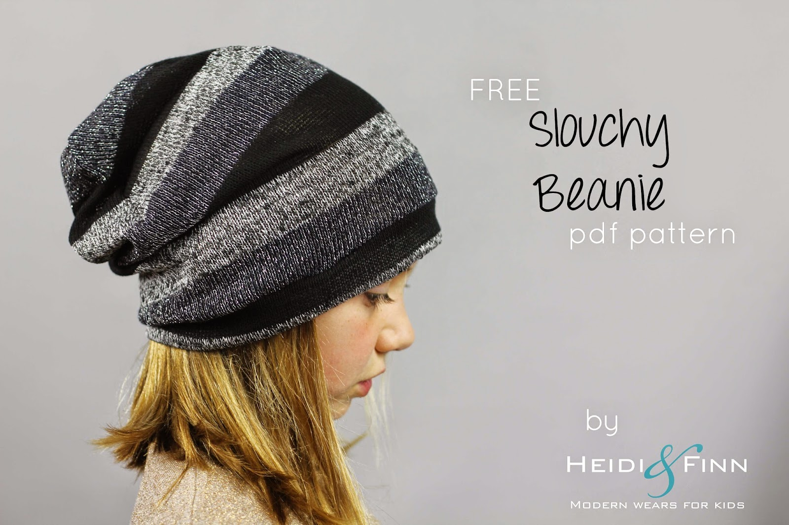 Heidiandfinn modern wears for kids slouchy beanie hat free project 2 for kids clothes week hats more specifically oh so cool slouchy beanies somehow my kids seem to lose about 10 hats each fallwinter season bankloansurffo Choice Image
