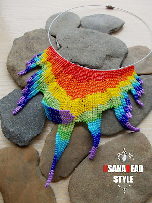 ожерелье радуга