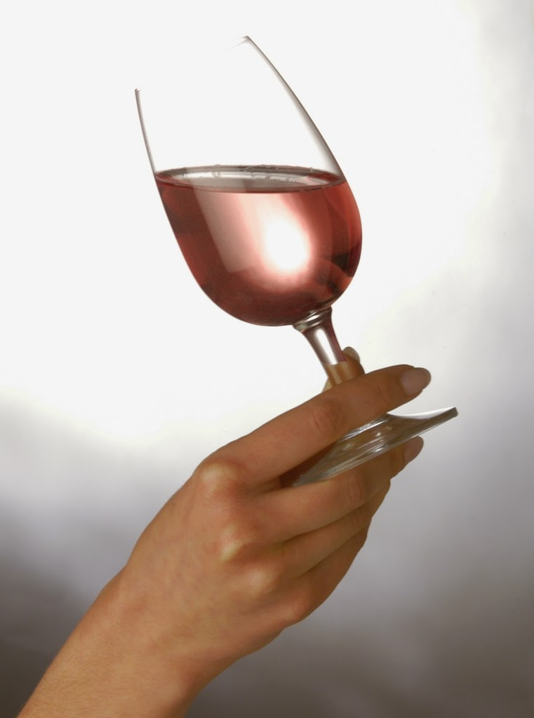 rose, wine, glass, review, hand, tasting
