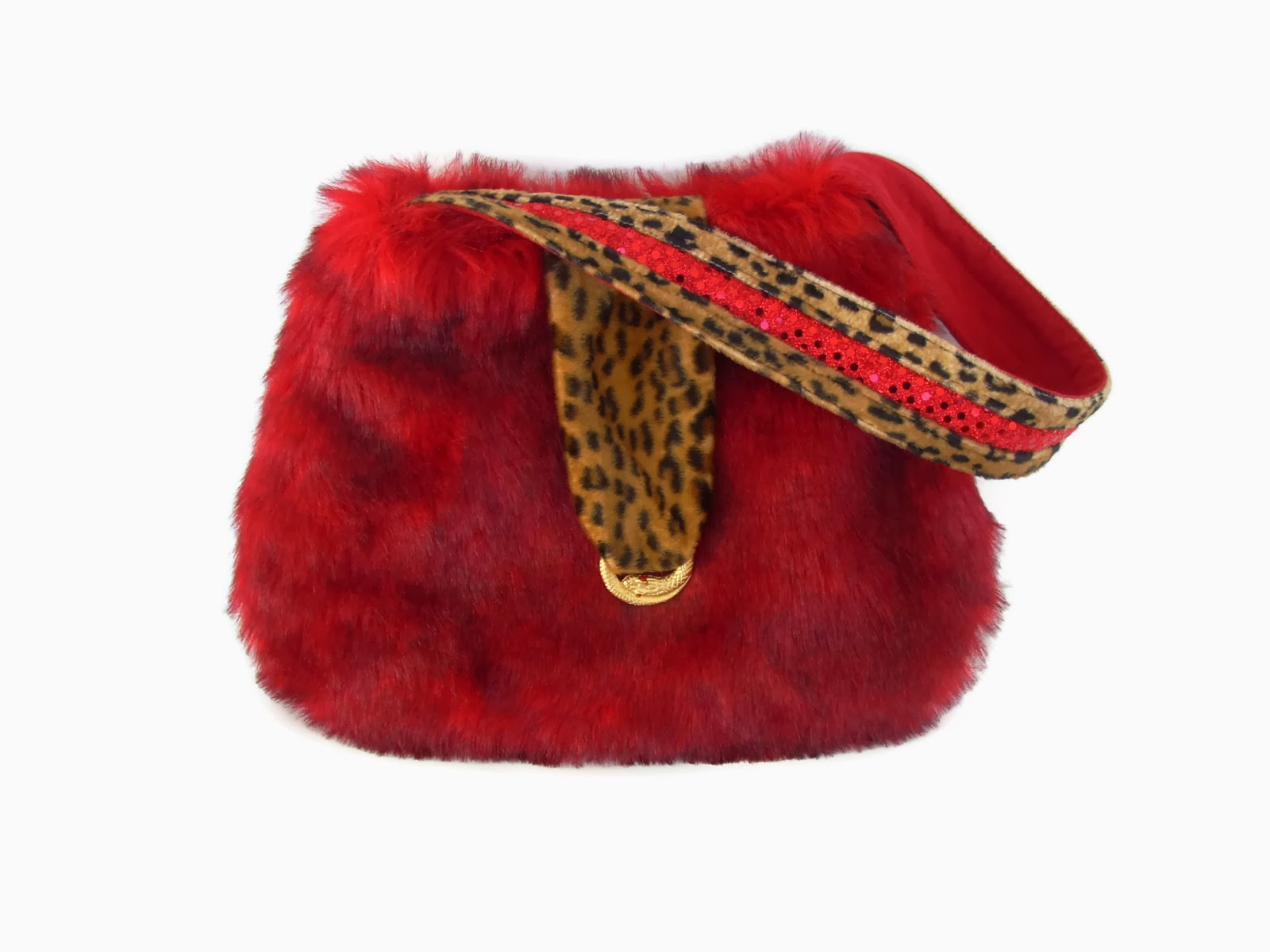 Ruby Red Sequin and Cheetah Medium Cozy Bag