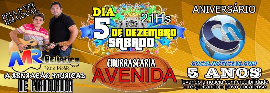 ANIVERSÁRIO DE 5 ANOS DO COCAL NOTICIAS.COM