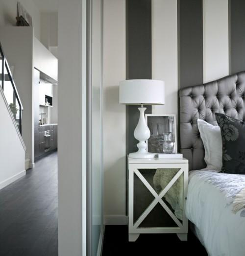 Dormitorios con rayas dormitorios con estilo - Habitaciones pintadas con rayas ...