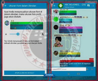 BBM Mod Unik Terbaru Versi 2.10.0.30 Fitur Chat Bubble Pelangi