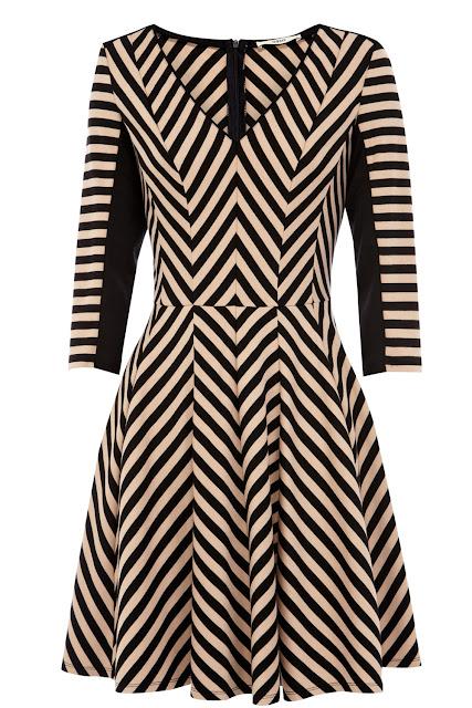 monochrome striped dress