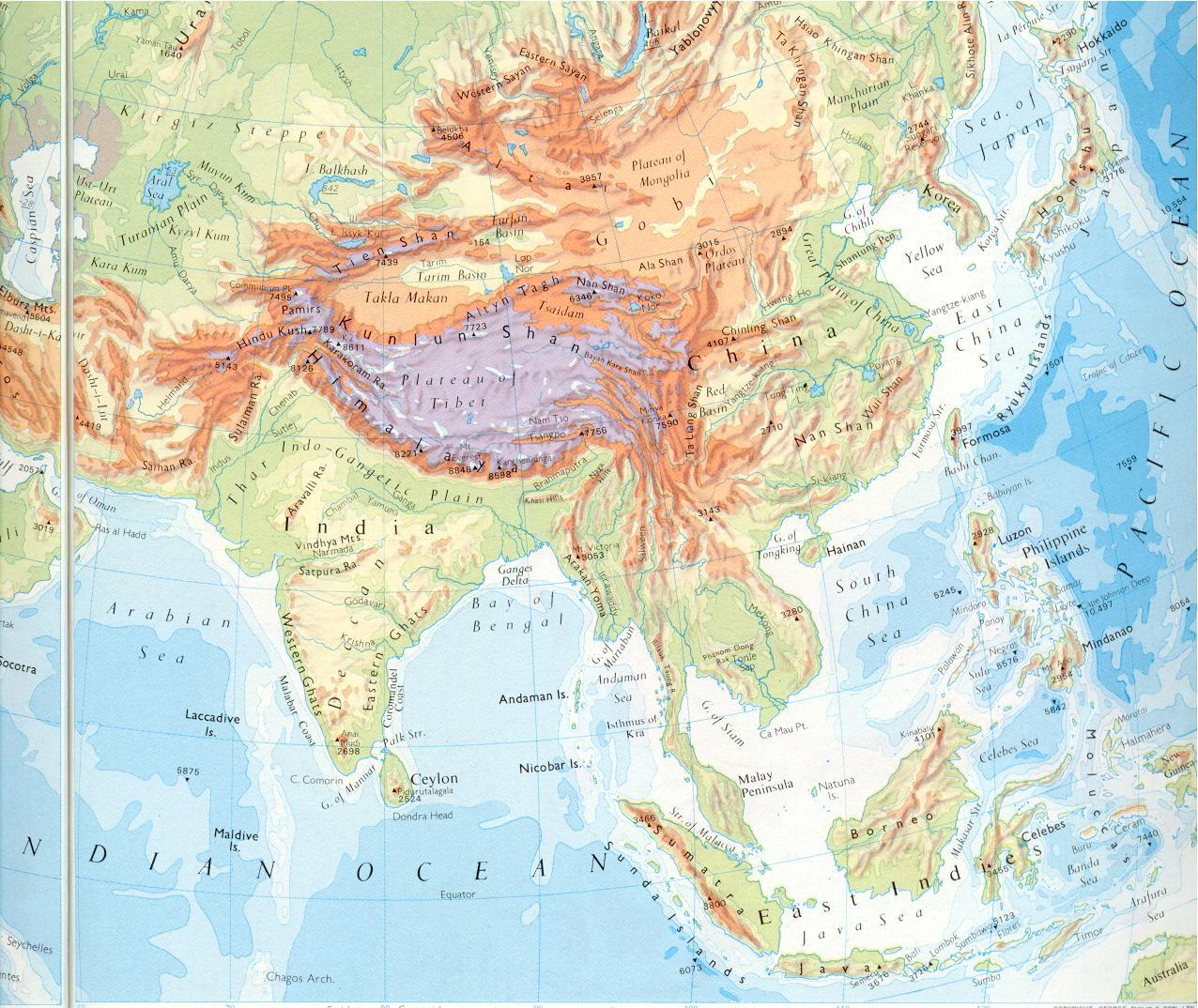 Asia Meridional Mapa