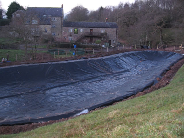 New tarps world large pond liners needed to make a wide for Building a pond with liner