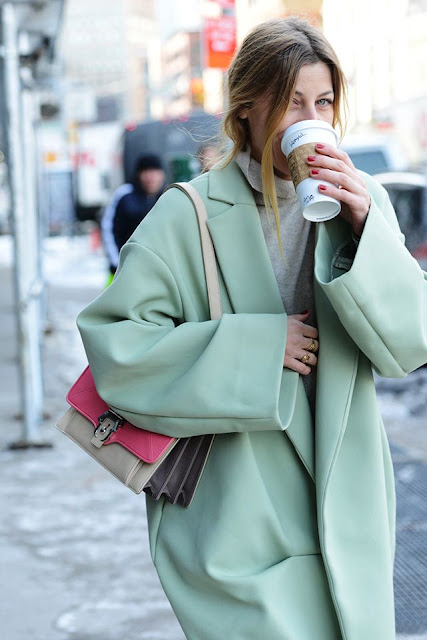 pastel winter coat