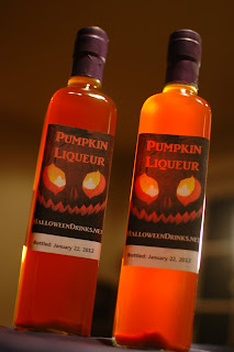 Pumpkin Liqueur - Bottled and Labeled