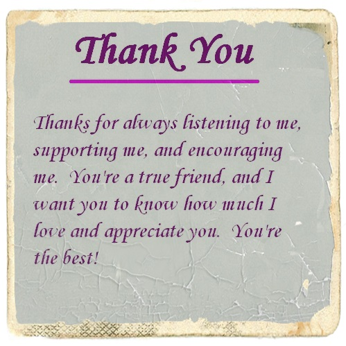 Thank You For Your Friendship Letter And Quotes | Cute Instagram