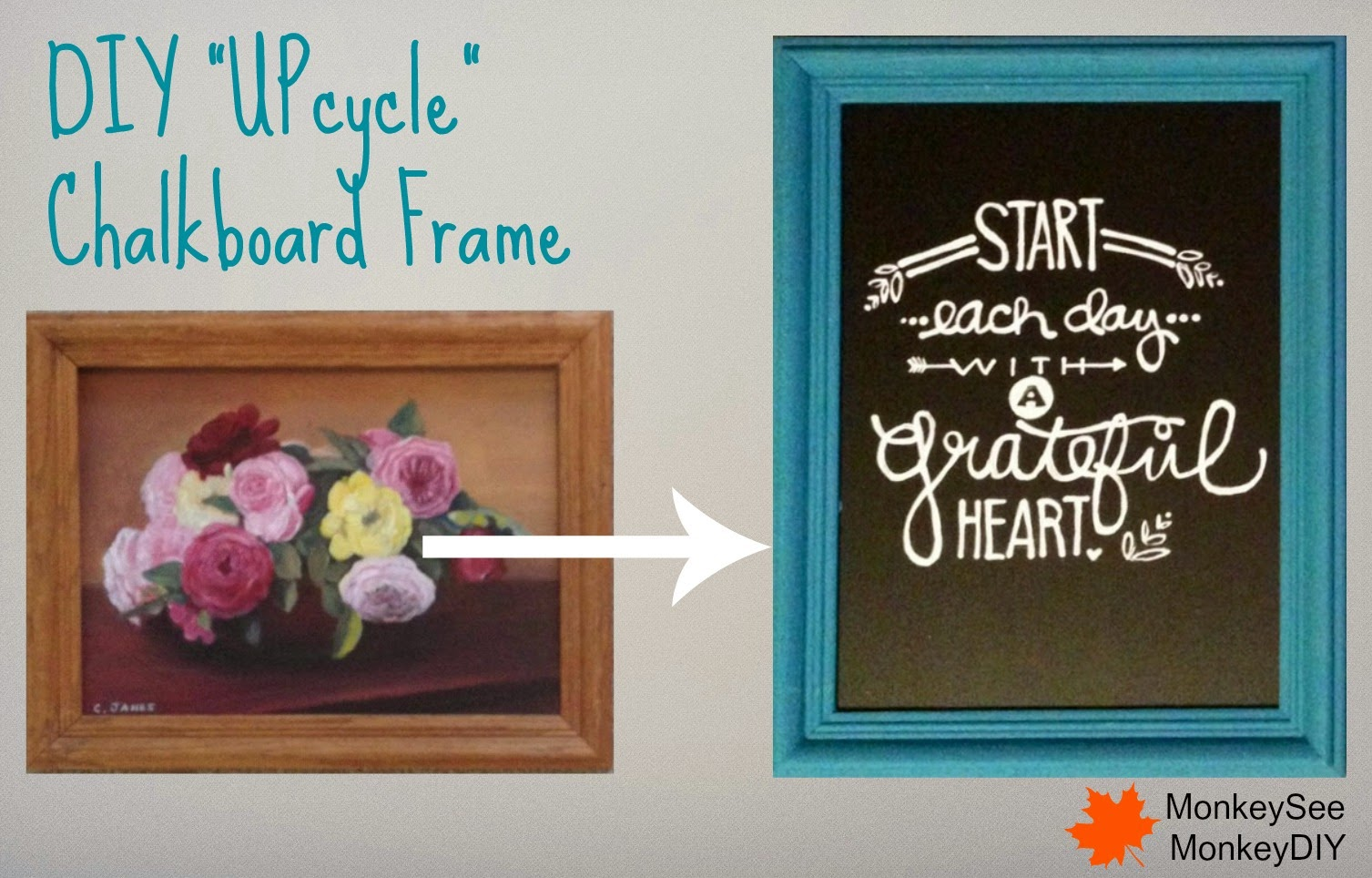 DIY Upcycle Chalkboard Frame Monkey See Monkey DIY