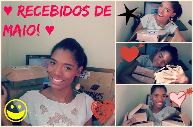 ♥ Recebidos de Maio! ♥