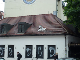 Streetart, Urbanart, Tierkopf aus Pappmaschee