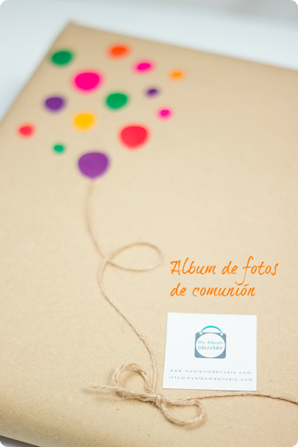 Packaging para álbum de fotos de comunión