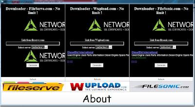 Premium Account Link Generator 5.0 Fileserve,Wupload,Filesonic