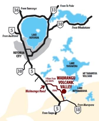 mapa de waimangu