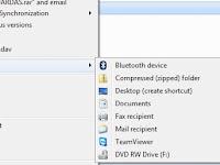 Cara Menambahkan Pilihan Lokasi Sajian Send To Pada Windows 7