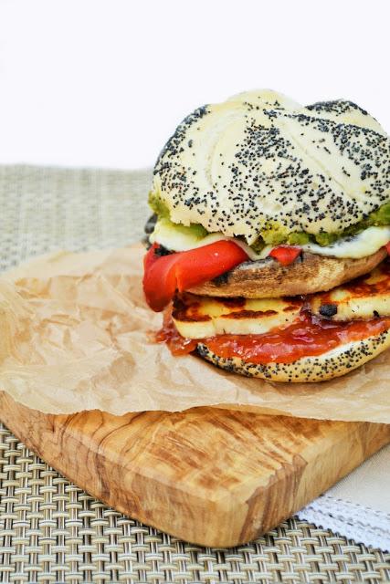 Mushroom & Halloumi Burger Melt with Melted Leerdammer