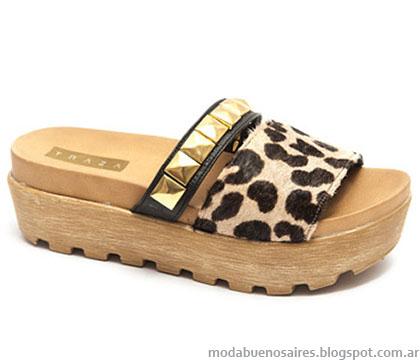 Suecos moda verano 2015 Traza calzados.