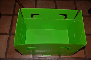 Packaway box opened