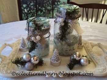 Eclectic Red Barn: Mason Jar Holiday Decor with tray