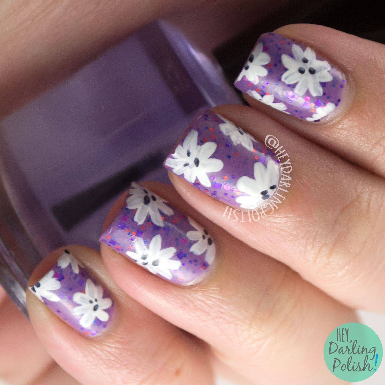 nails, nail art, nail polish, indie, indie polish, indie nail polish, hare polish, flowers, floral, hey darling polish