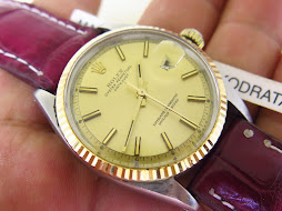 ROLEX OYSTER PERPETUAL DATE JUST GOLD DIAL - ROLEX 1603