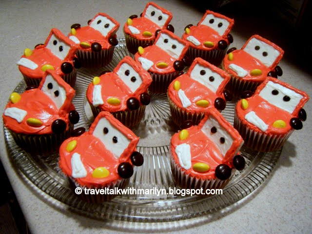 Travel Talk With Marilyn Disneys Lightning McQueen Cupcakes