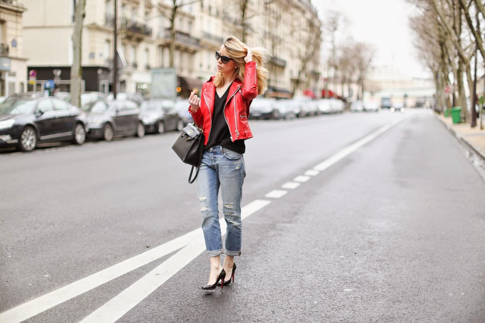 levi's, boyfriend jeans, louboutin, kelly hermès, streetstyle, paris