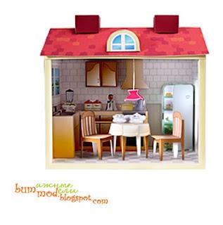 бумажная модель кухня