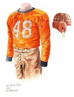 1928 University of Florida Gators football uniform original art for sale
